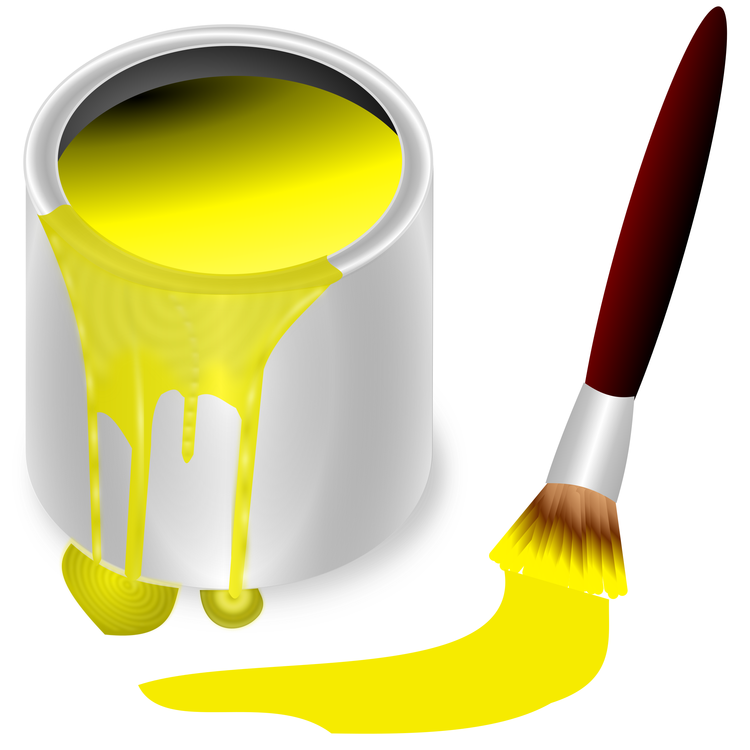 Bucket yellow big image. Humpty dumpty clipart color