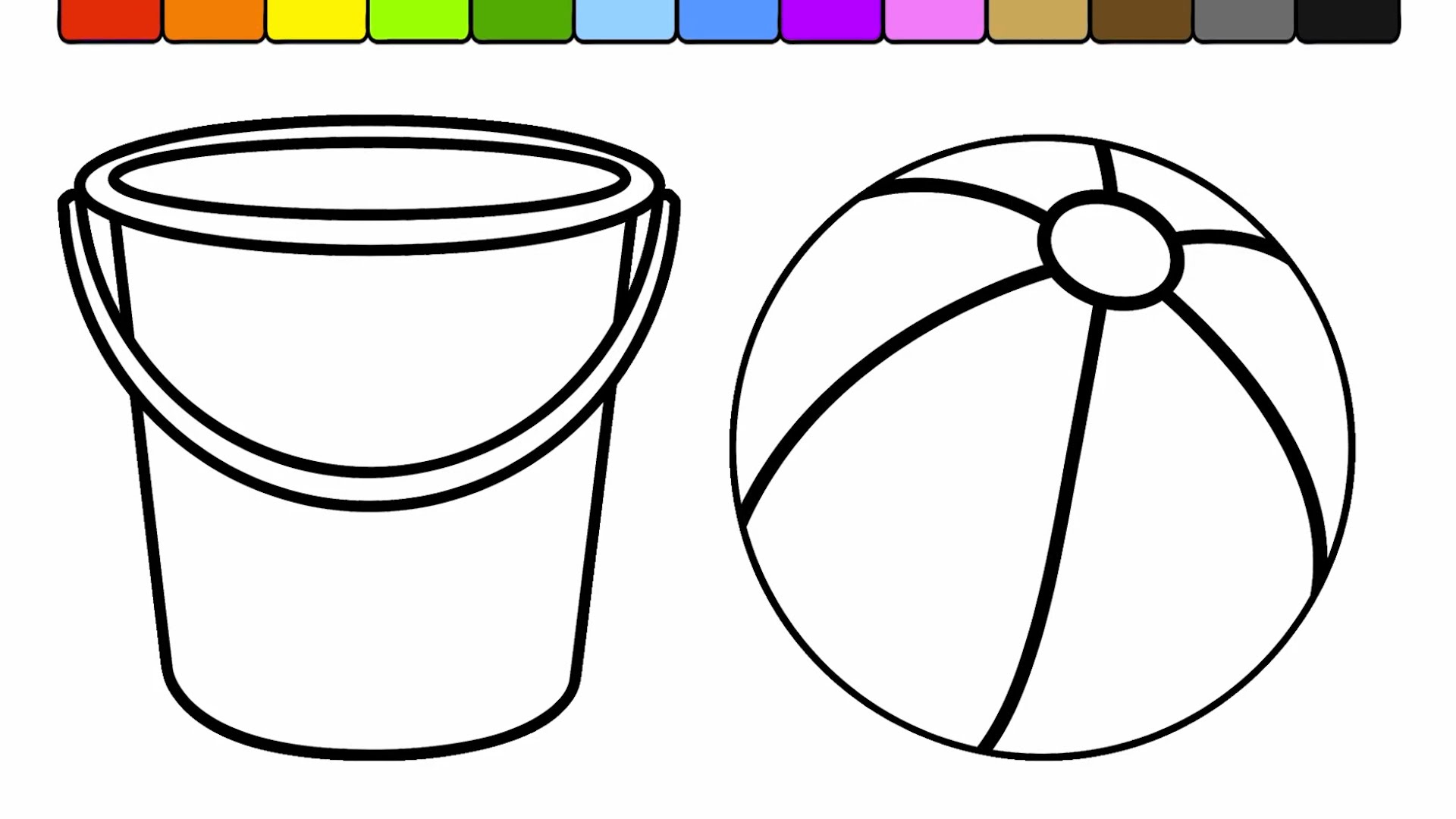 B is for Beach ball coloring pages printable | Beach coloring ... | 1080x1920