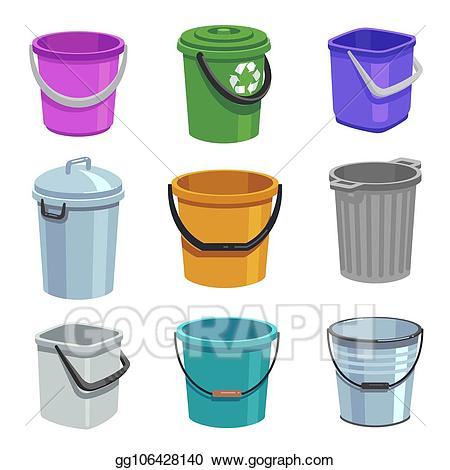 Bucket clipart container. Vector stock and pail