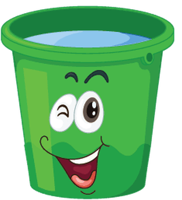 Buckets with faces the. Bucket clipart container