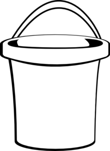 Bucket clipart container. White clip art at