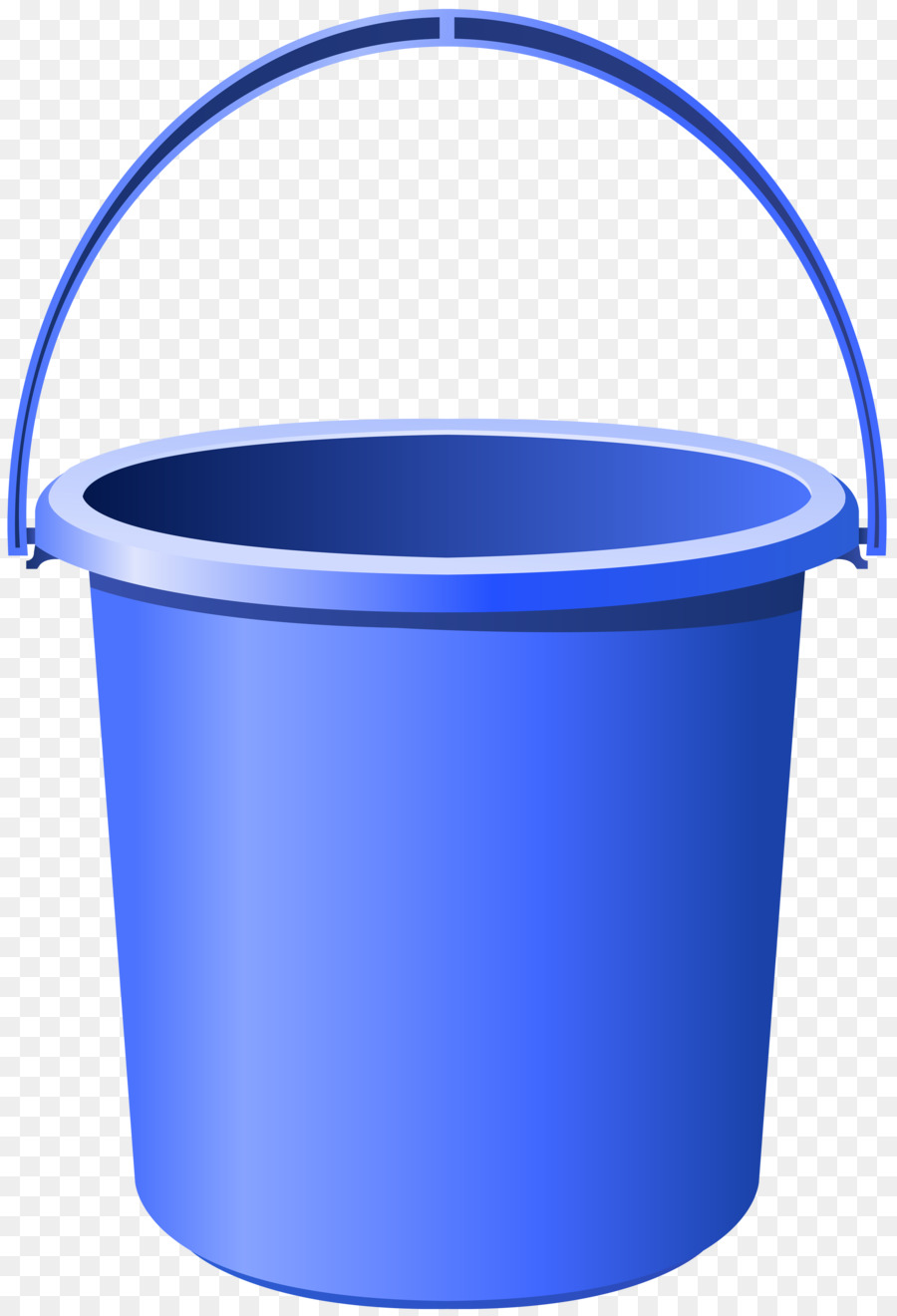 Bucket clipart container. Cobalt blue plastic