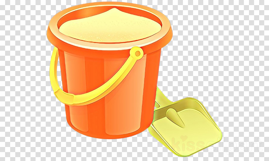 Bucket clipart container. Yellow plastic food storage