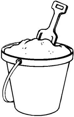 Pattern of a sand. Bucket clipart draw