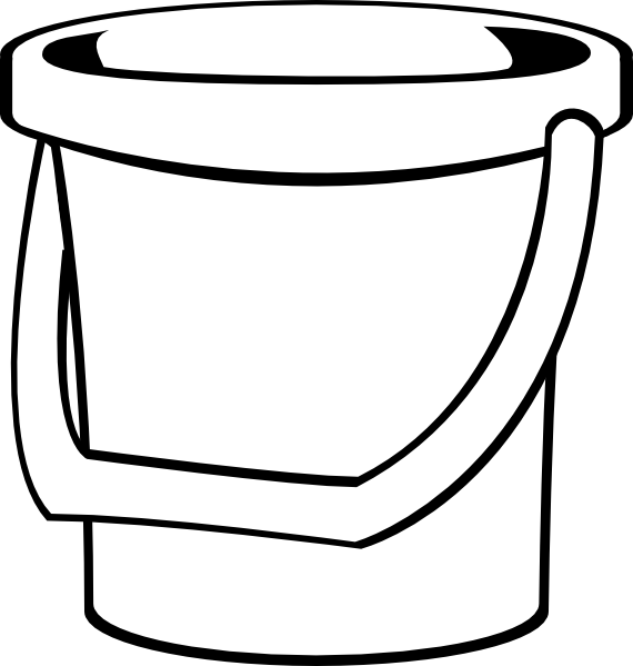 White clip art at. Bucket clipart empty
