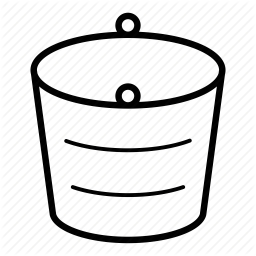 Bucket clipart empty. Water circle white transparent