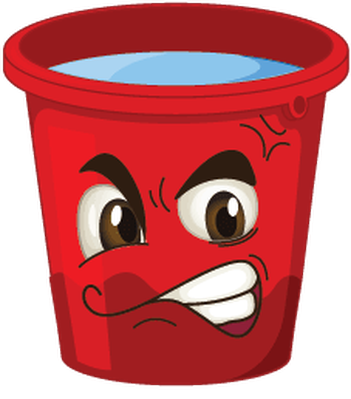 Buckets with faces the. Bucket clipart face