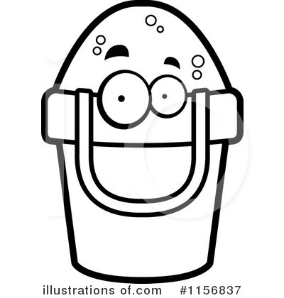 Illustration by cory thoman. Bucket clipart face