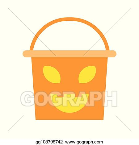 Bucket clipart face. Vector stock scary of
