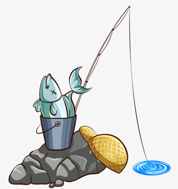 Png material small fish. Bucket clipart fishing