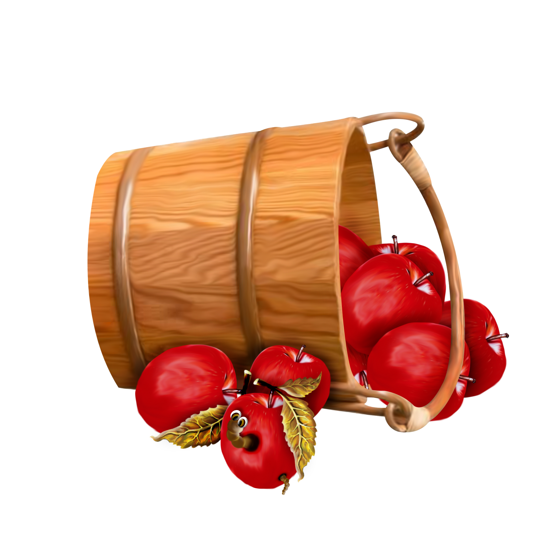 Fruits clipart bucket. With apples transparent applecart
