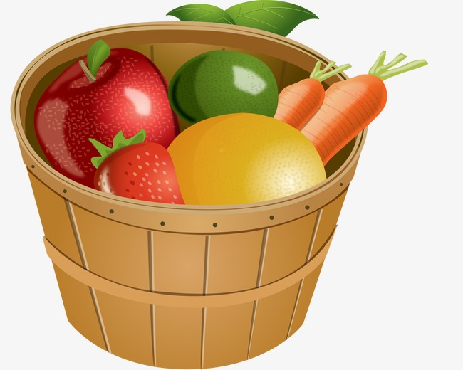 Of fruits and vegetables. Bucket clipart fruit