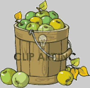 apples f pinterest. Bucket clipart fruit