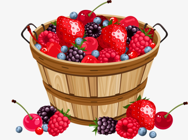 Bucket clipart fruit. A of strawberries raspberries