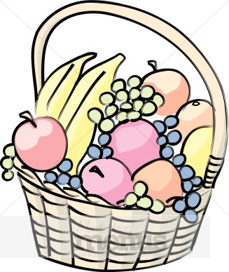 Bucket clipart fruit. Fruits basket panda free