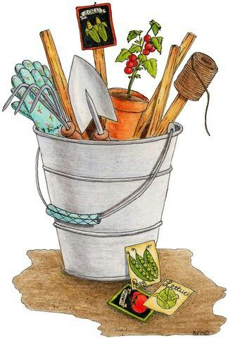 Bucket clipart garden. Patterns colored paintpatterns scrapbooking