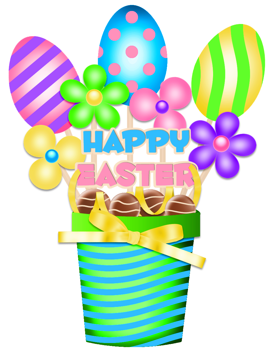 Clipart balloon easter. Bucket decoration png picture