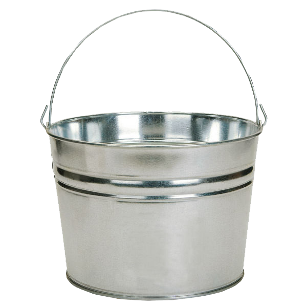 Bucket clipart metal bucket. Png images transparent free