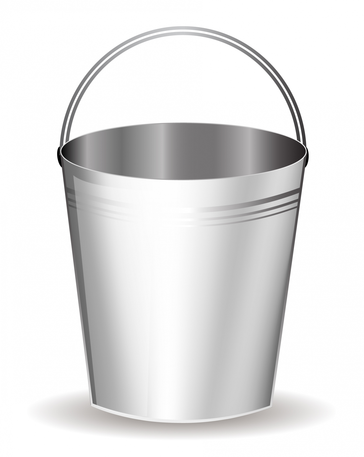 Bucket clipart metal bucket.