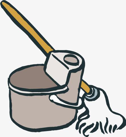 Cartoon vector png and. Bucket clipart mop bucket