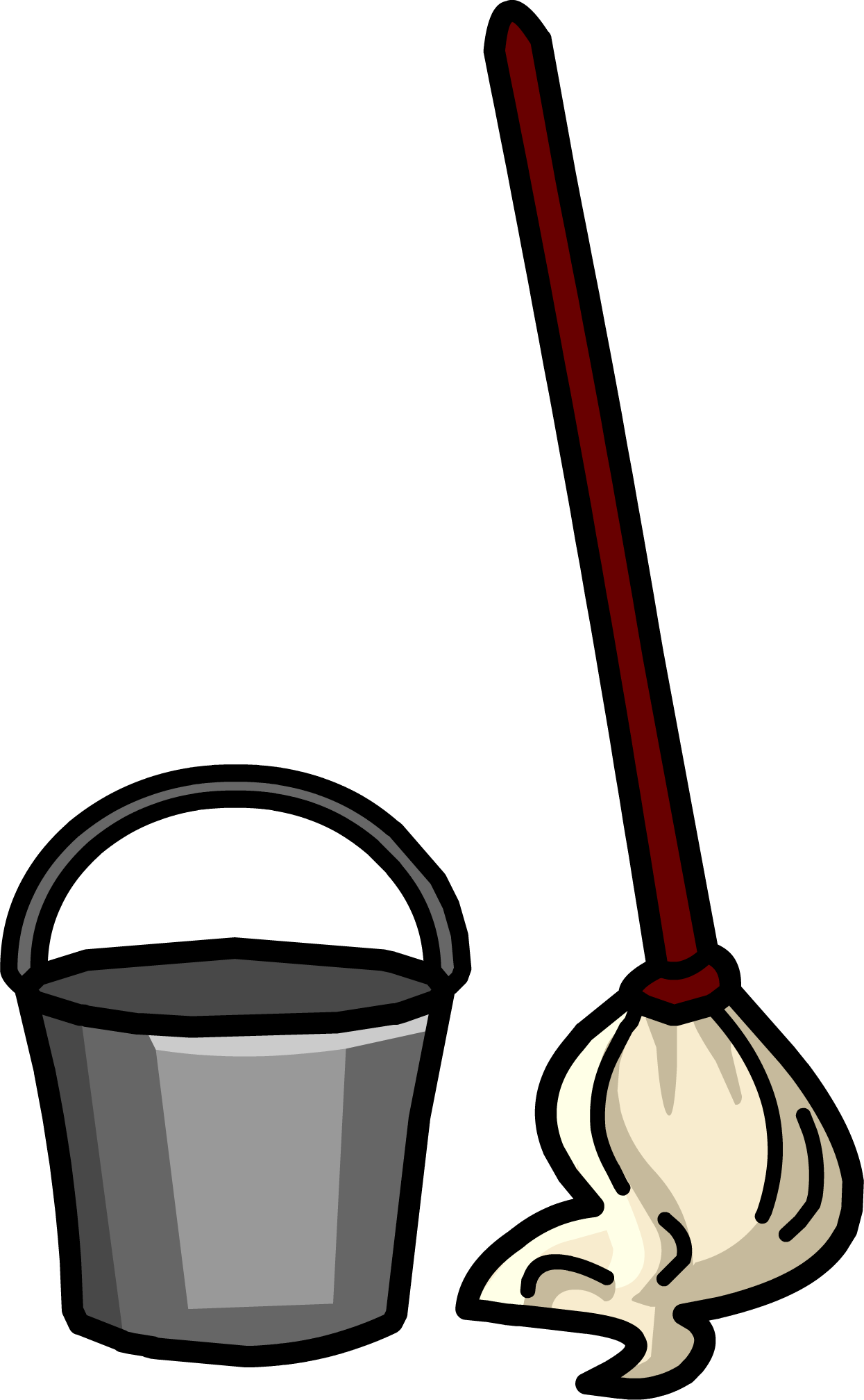 red clipart mop #140632926