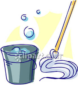 Bucket clipart mop bucket. Of soapy water and