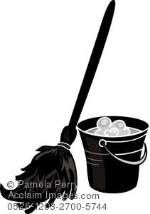 Clip art illustration of. Bucket clipart mop bucket