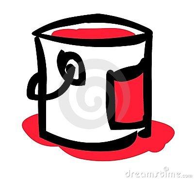 Paint clip art panda. Bucket clipart mug