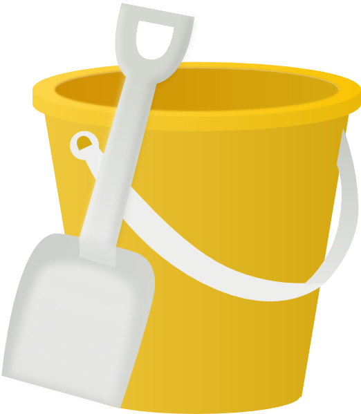 Yellow clip art at. Bucket clipart pail