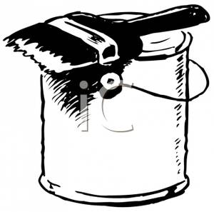 collection of can. Bucket clipart paint brush