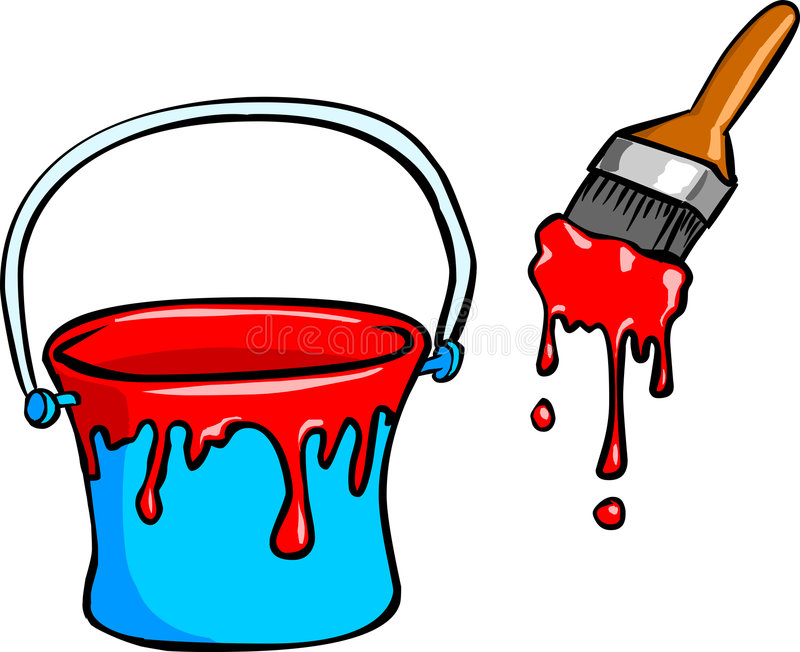 Bucket clipart paint brush. Painting the beat goes