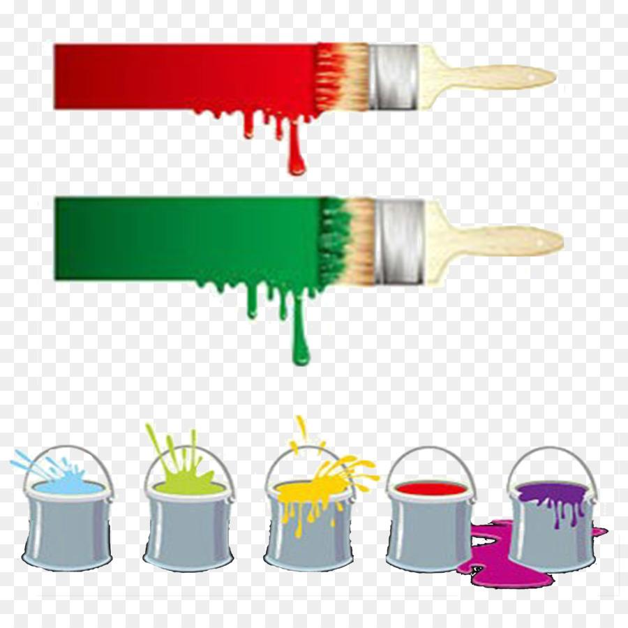 Paintbrush painting clip art. Bucket clipart paint brush