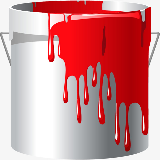 Cartoon white paint png. Bucket clipart painting