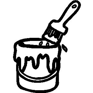 Paint kid clipartix . Bucket clipart painting