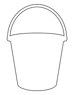 Bucket clipart painting. Pattern of a sand