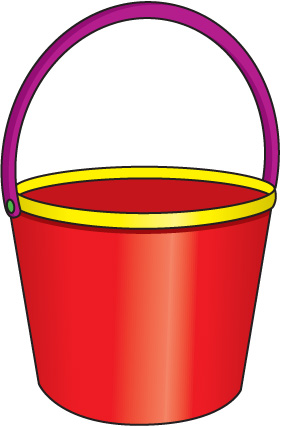 Sand . Bucket clipart pale