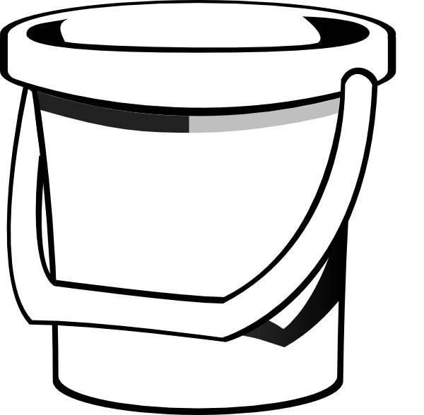 Bucket clipart pale. Sand clip art at