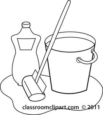 Home mop soap kitchen. Bucket clipart pale