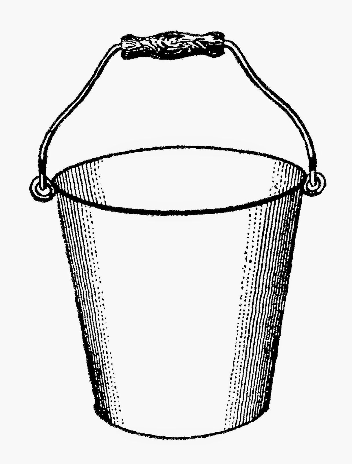 Antique images free digital. Bucket clipart printable