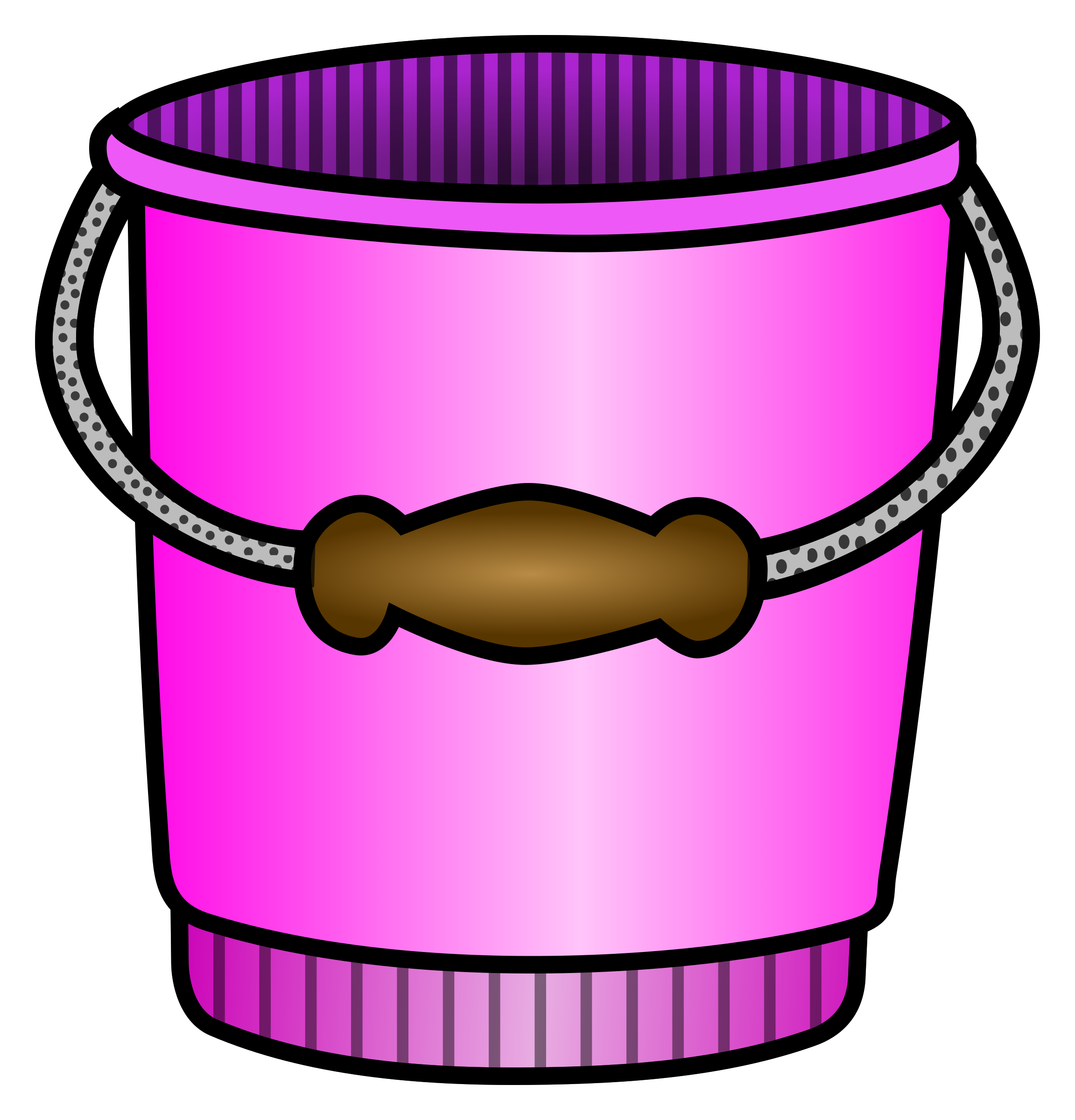 Coloured big image png. Purple clipart bucket