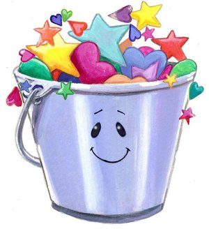 Bucket clipart prize. Full buckets happy hearts