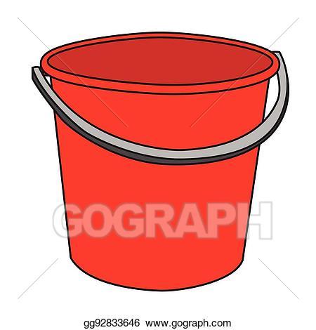 Vector stock illustration of. Bucket clipart red bucket