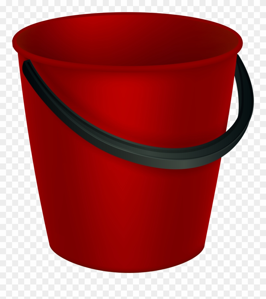 Bucket clipart red bucket. Png image transparent