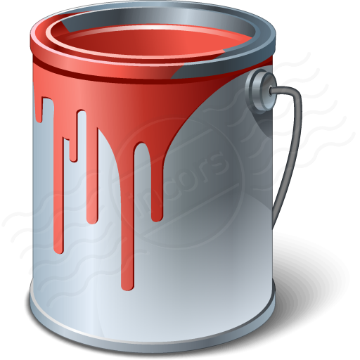 Bucket clipart red bucket. Paint buckets