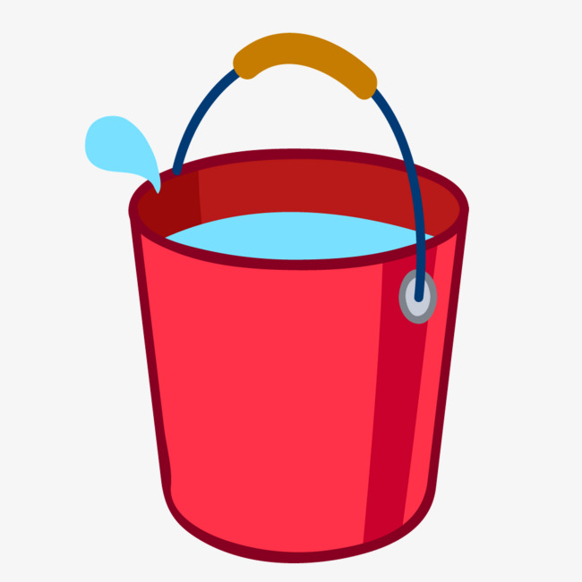 Cartoon png and vector. Bucket clipart red bucket