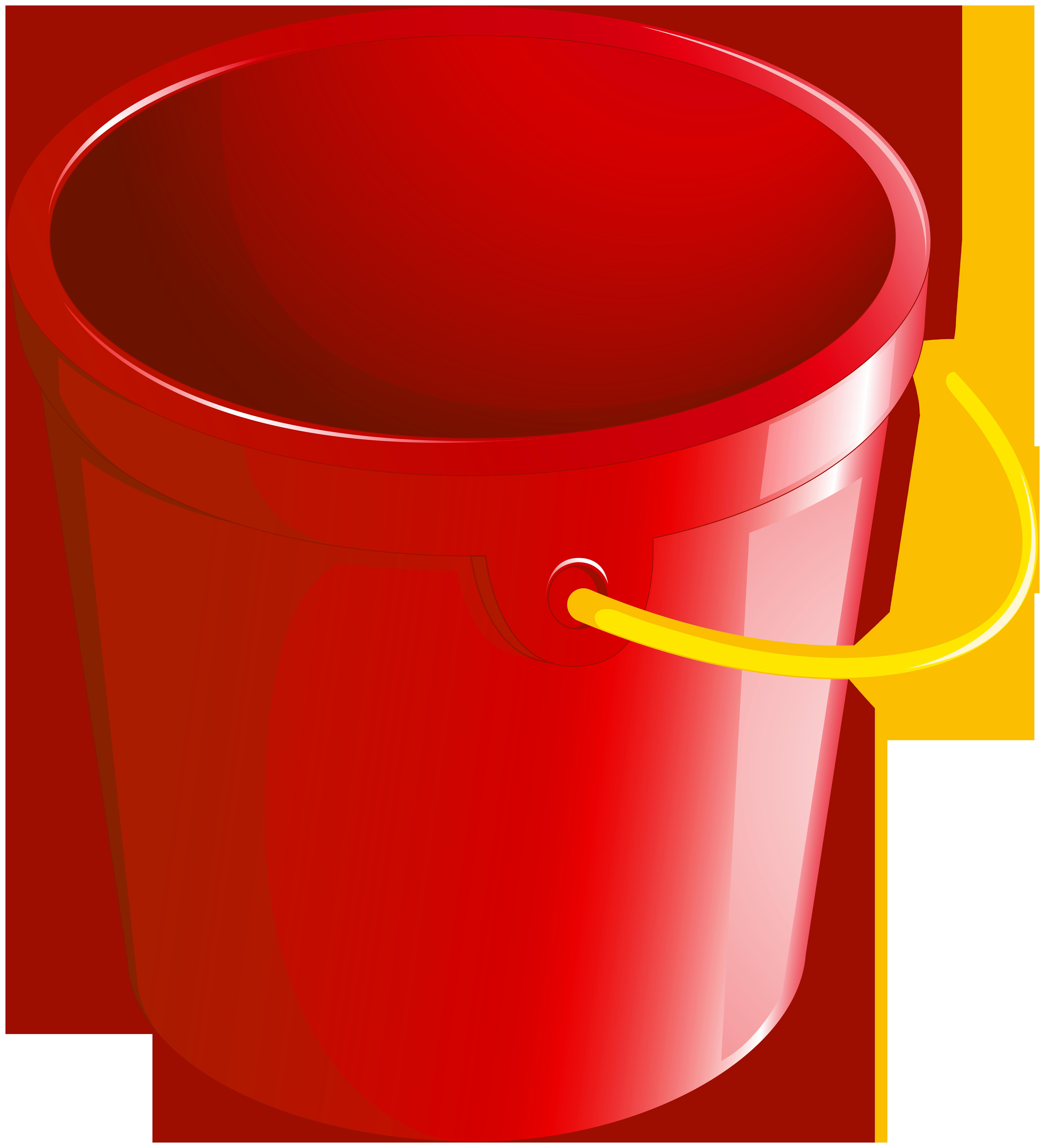 Bucket clipart red bucket. Png best web