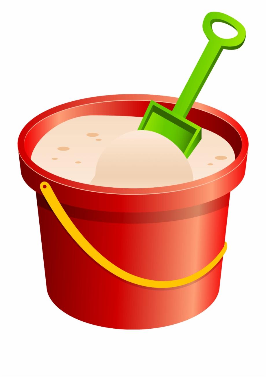 Bucket clipart sand bucket. Shovel clip art transparent