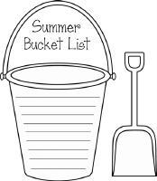 Summer Bucket List Clipart