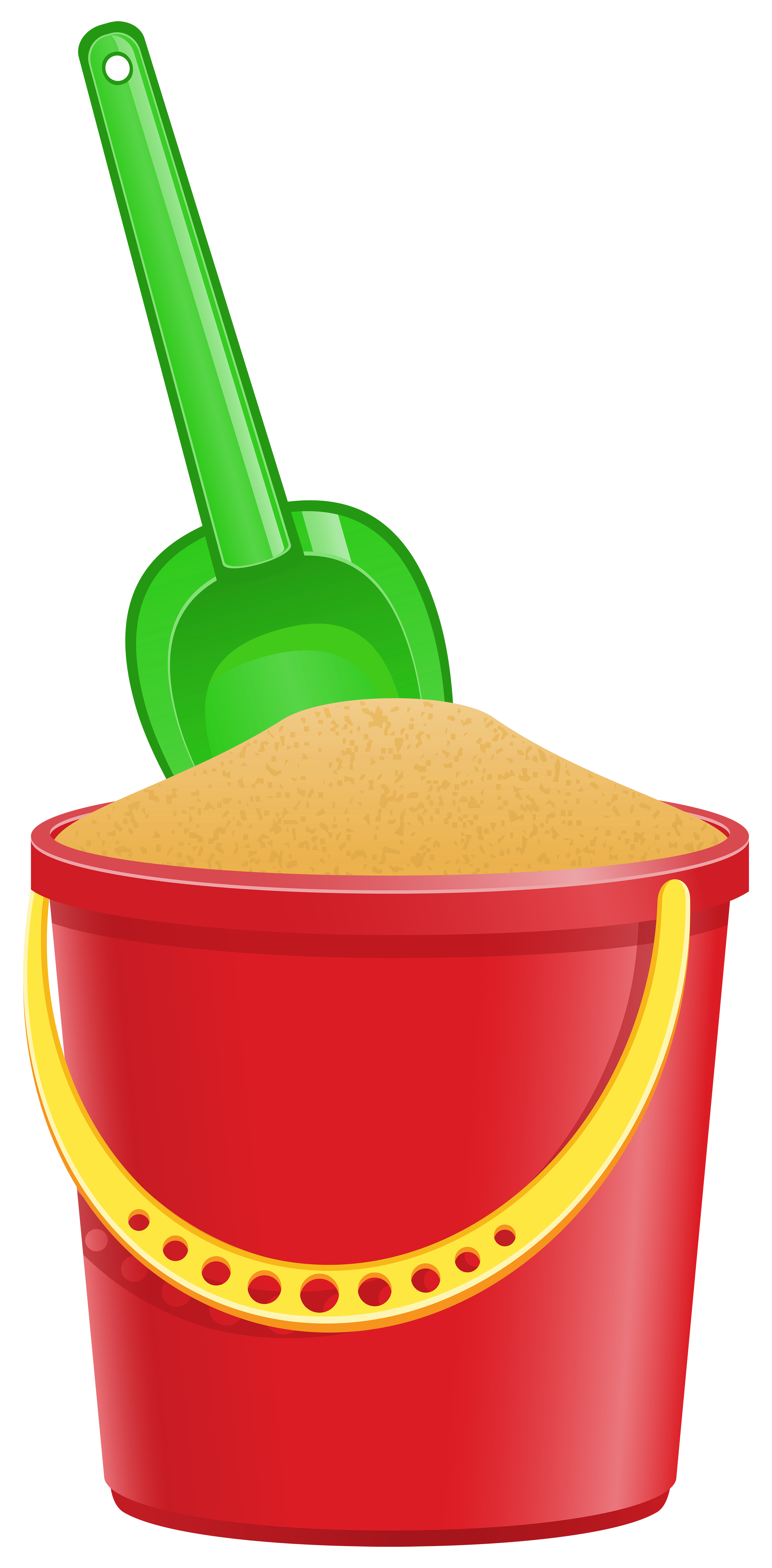 Fruits clipart bucket. With shovel transparent png