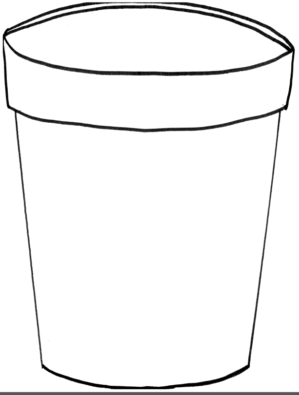Bucket clipart template. Best of pail black